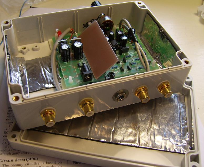 Diy Moving Magnet Mm Riaa Phono Preamplifier Kit