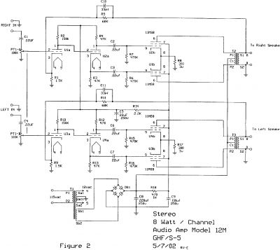 S-5 Electronics K-12M Tube Amplifier Schematic - DIY Audio Projects ...