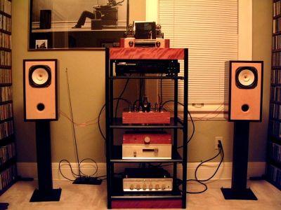 Diy Fostex Fe167e Bookshelf Speakers In Listening Room