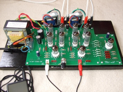 K-16LS Tube Amp Kit with PL Tube Preamp - DIY Audio Projects Photo