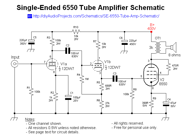Homemade Audio   Schematics For Drawing on tube audio mixer