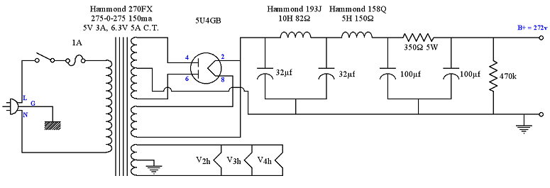 U Power Supply Schematic For Se V Amp Sm
