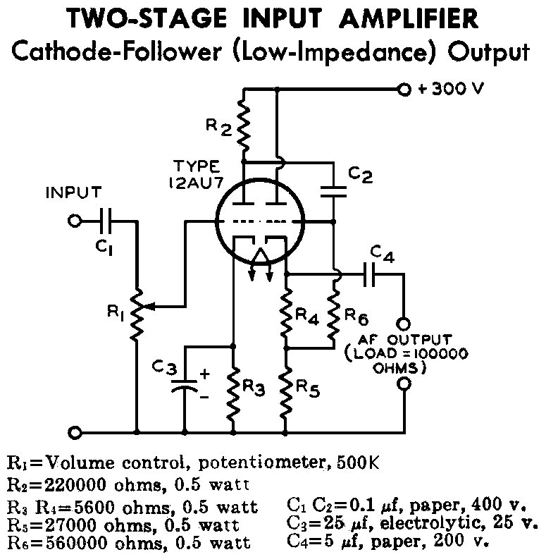 Articles on vacuum tube schematic diagram