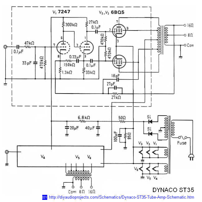 dynaco dynakit stereo 35  st35  tube amplifier schematic and manual