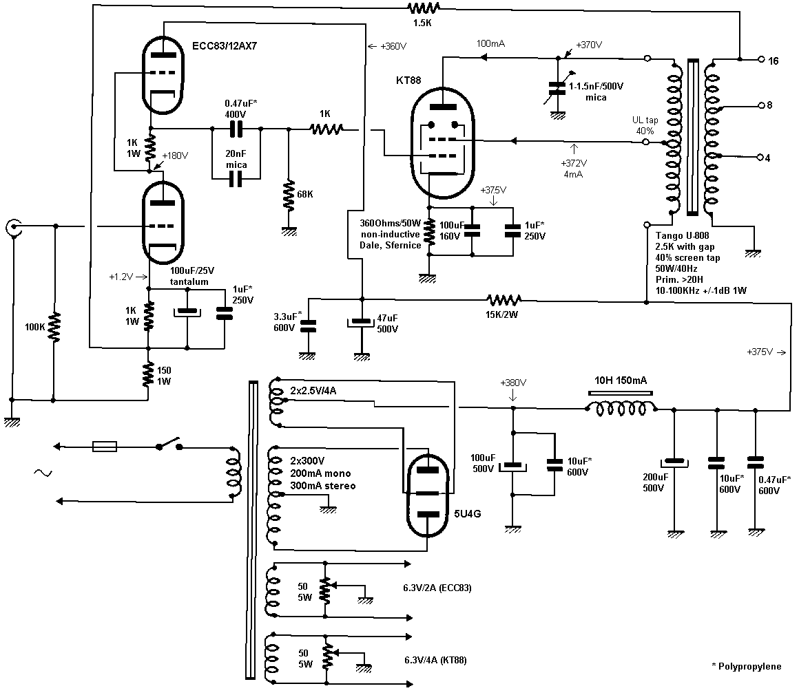 single ended 6l6 schematic  single  free engine image for user manual download