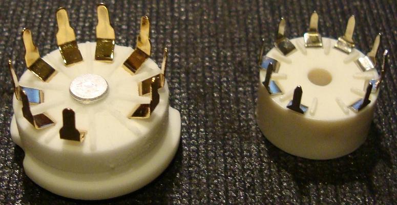 B9A 9-pin ceramic vacuum tube / valve socket