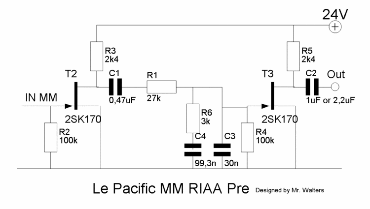 Le Pacific JFET Phono Preamp for MM and MC Cartridges
