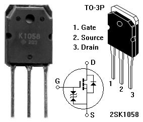 diy class a sk mosfet amplifier project hitachi 2sk1058 n channel mosfet pin diagram