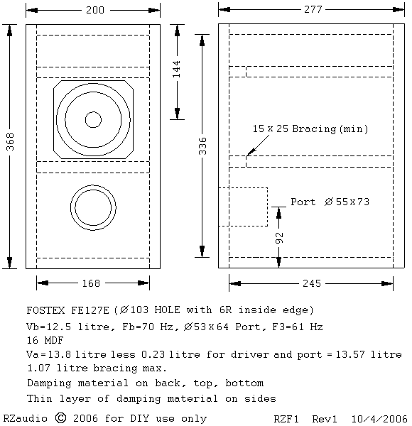 bookshelf speaker box plans
