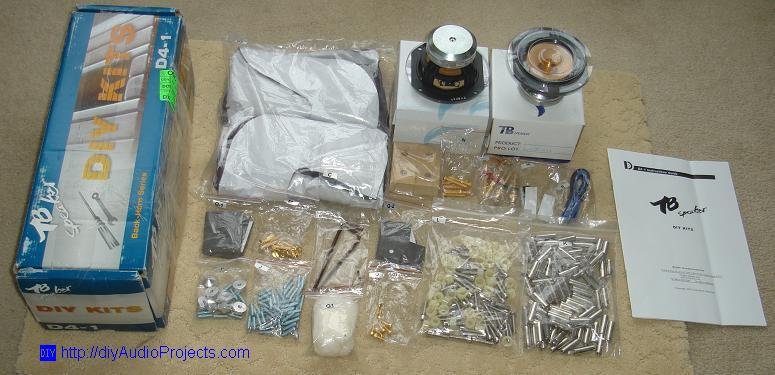 Tang Band D4-1 Speaker Kit Parts