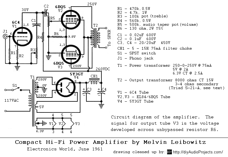 Compact Hi-Fi Power Amplifier by Melvin Leibowitz