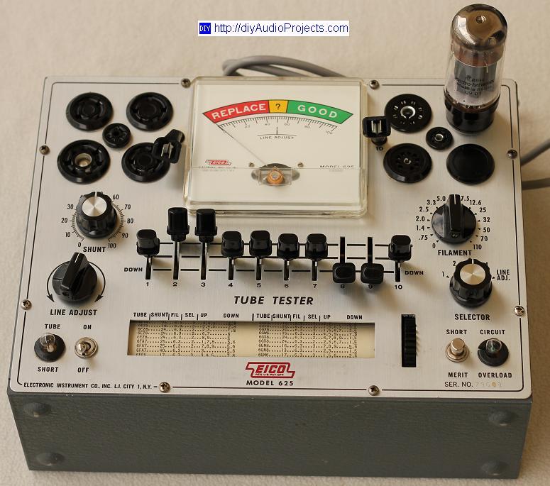 EICO 625 Vacuum Tube (Valve) Tester