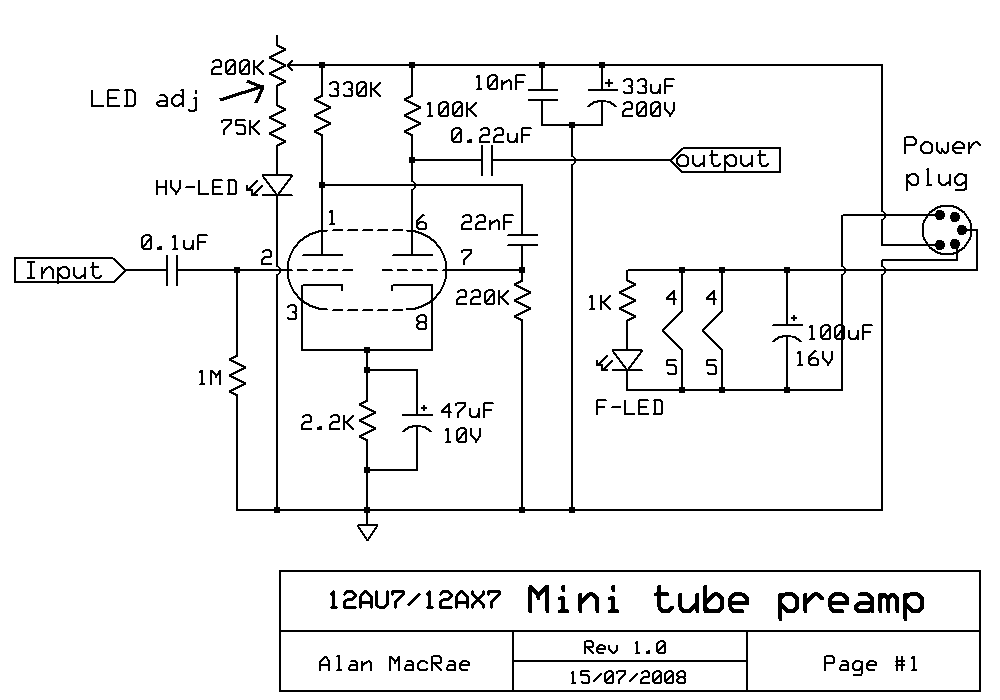 12AX7 12AU7 Tube Preamp Schematic 12au7 12ax7 tube preamplifier schematic preamp wiring diagram at bayanpartner.co