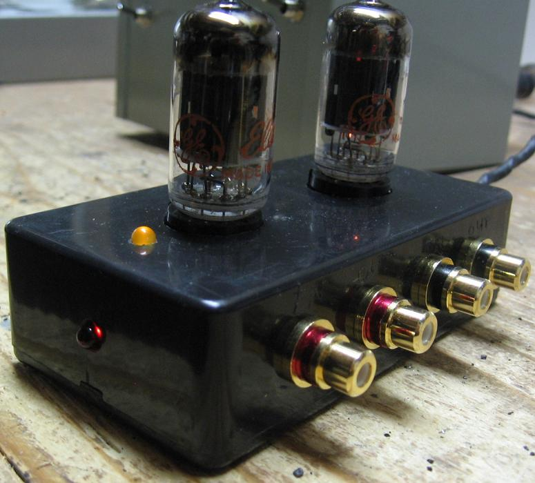 diy 12au7 tube preamplifier project