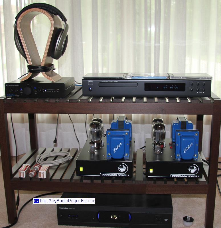 照片8:直板kt88电子管功放与nad c521i和光速衰减器