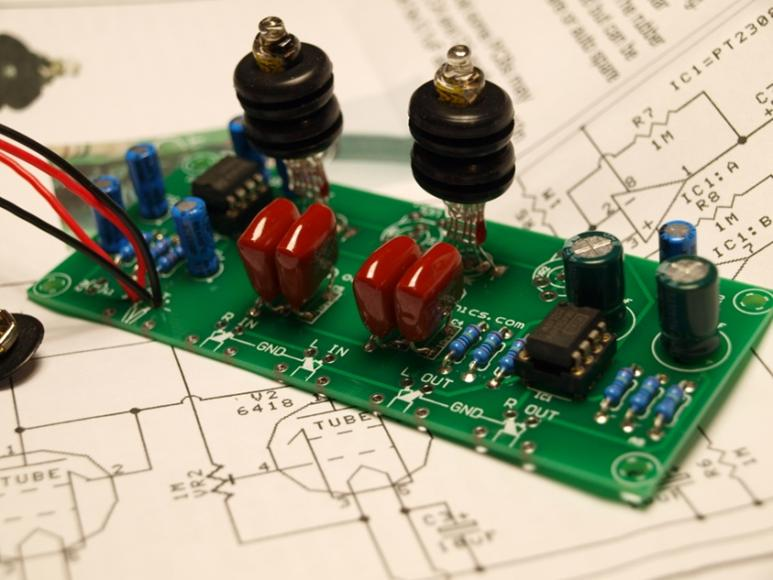 Oatley k272 jan 6418 valve tube preamplifier headphone amp kit upgraded jan6418 tube preamp headphone amp kit solutioingenieria Images