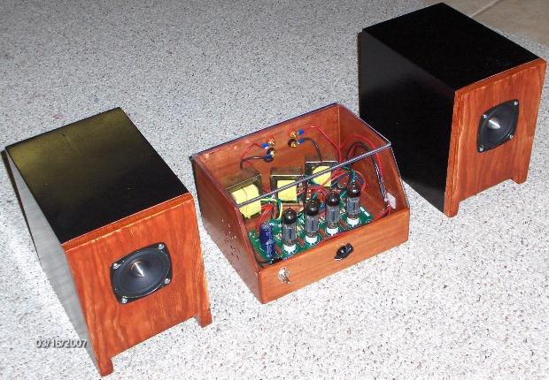 K 502 Tube Amplifier Kit And The Delsol Speaker Projects