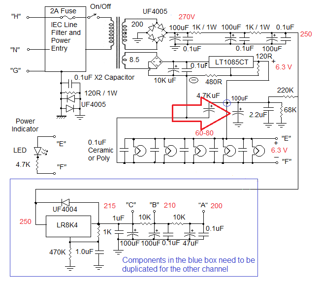 Schematic Of A additionally High End Tube   Schematics together with Microphone Mixer Schematic further Tube Direct Box Schematic as well 300b Tube Power Lifier Schematics. on tube audio power lifier circuit