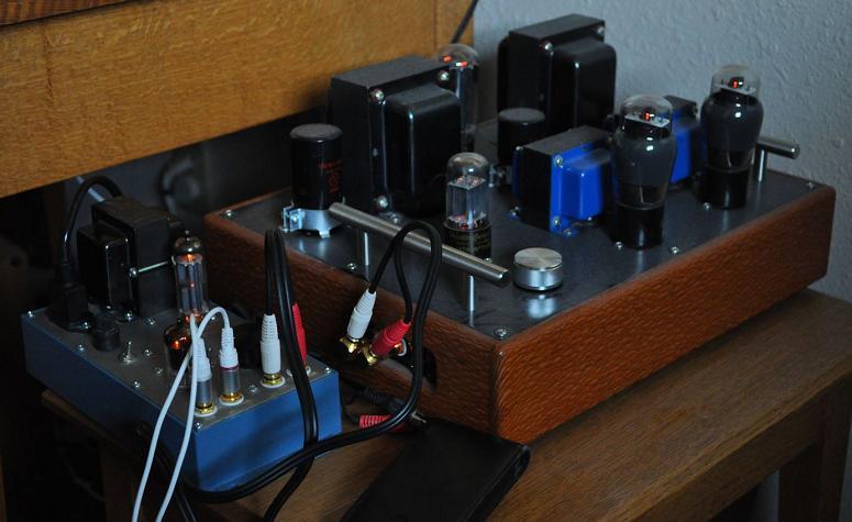照片5:4s通用电子管前级与旭日6v6放大器