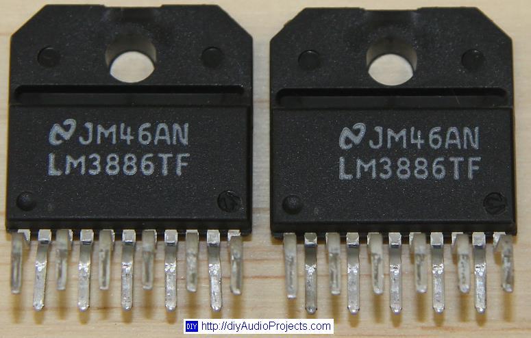Diy Lm3886 Chip Amplifier  Gainclone  Kit
