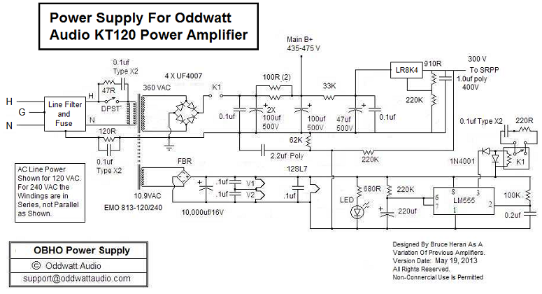 Kt120 Pushpull Tube Amplifier Schematic Oddwatt Audio Oddblocks