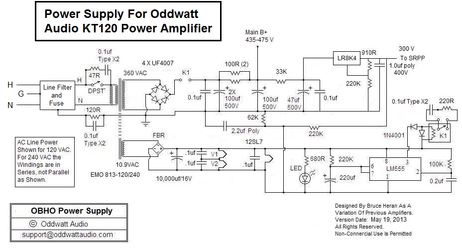 Kt Oddblock Power Supply Schematic on Single Ended Tube Amp Schematic