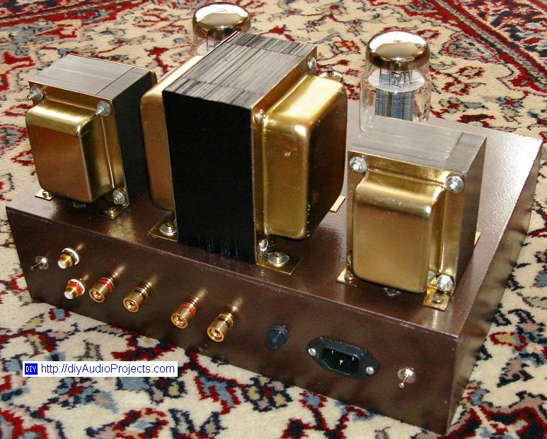 Single-Ended (SE) KT88 Tube Amplifier Schematic (with 6N1P ...