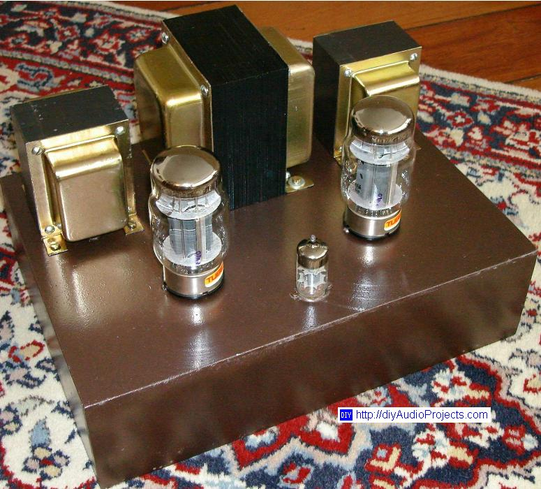 DIY Single-Ended KT88 Tube Amplifier