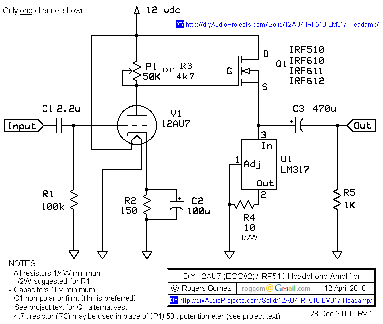 Hybrid Tube Mosfet Amplifier