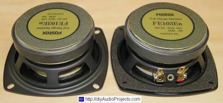 Fostex Fe103en Diy Bass Reflex Bookshelf Speakers Nearfield Monitors