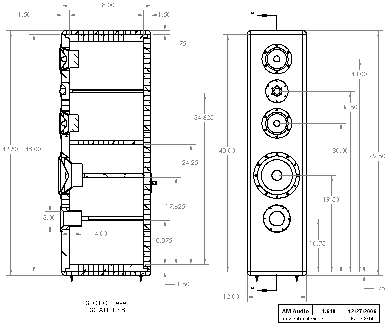 Line Art Box Design : Diy way hi vi tower loudspeaker project