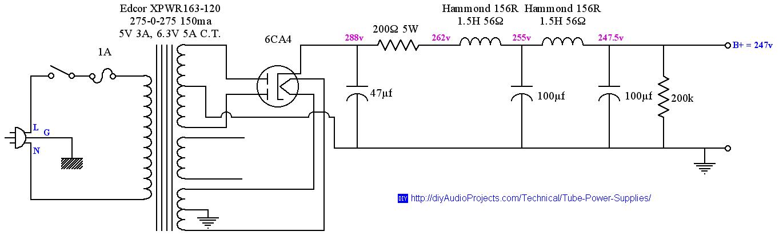 Vacuum Tube Power Supply Design