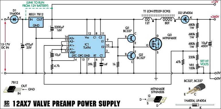 F02psschematic Nixie Tube Power Supply Schematic on
