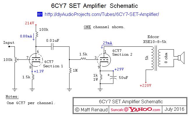 6CY7 Single-Ended Hi-Fi Stereo Amplifier