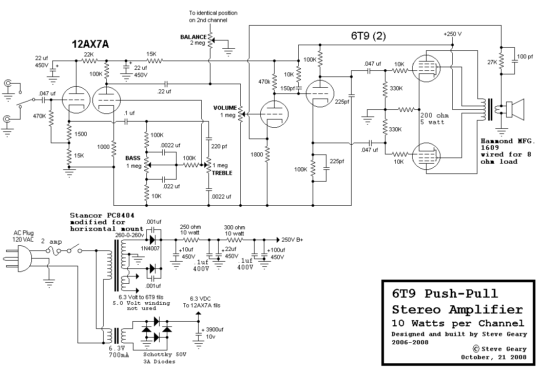 push pull schematic diagram