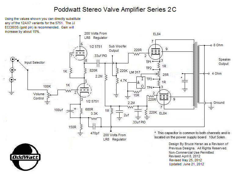 Pull Pp El84 Tube Amplifier Schematic Other Push Pull El84