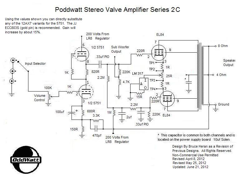 Poddwatt: Class-A Stereo Push-Pull EL84 (6BQ5) Vacuum Tube